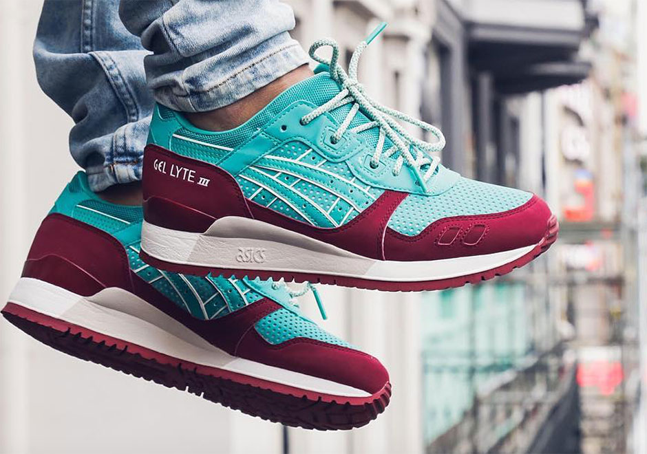 Asics GEL LYTE III colore Burgundy White