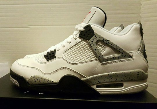 Cop The White Cement 4s With Nike Air Early