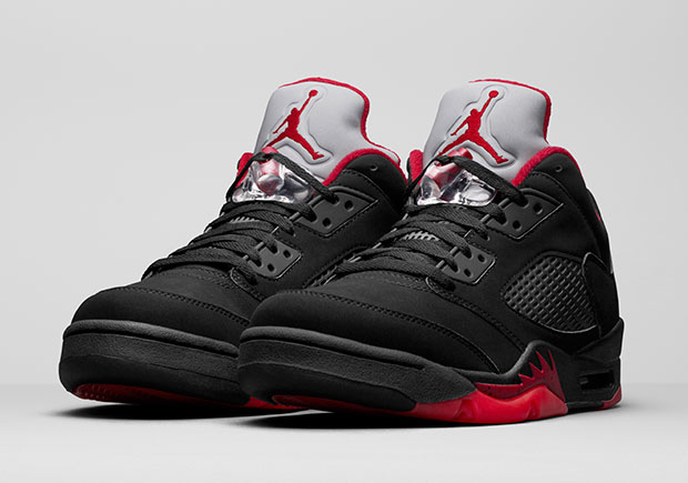 air jordan 5 low red black