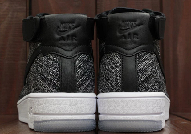 nike flyknit air force 1 mid oreo