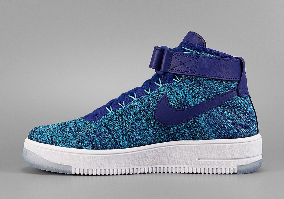 Nike Air Force 1 Ultra Flyknit Mid Blue