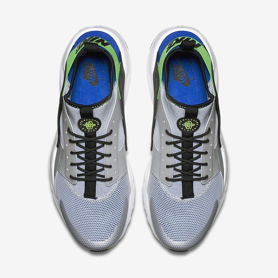 Hommes Nike Huarache Noir Et Vert 0SfNaS4q