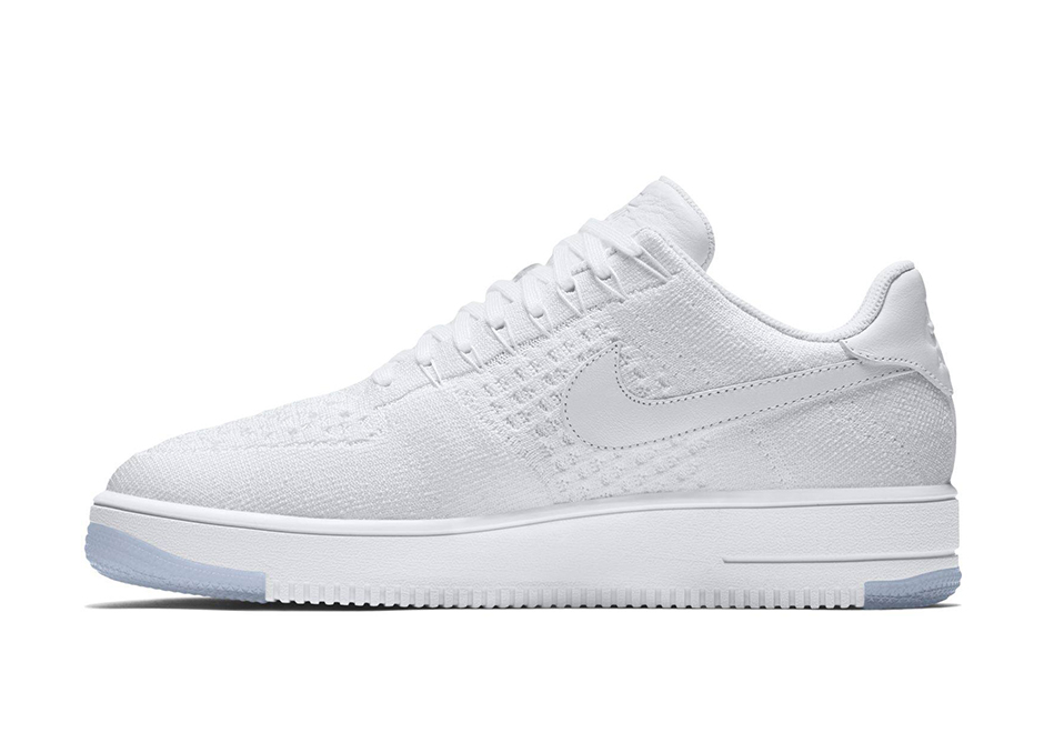 Nike Air Force 1 Flyknit bianco