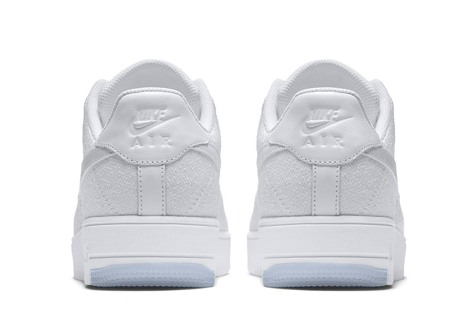 Nike Air Force 1 Flyknit bianco