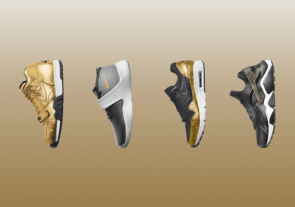on sale 1bdef 3a7fa Nike Super Bowl 50 Gold Collection   SneakerNews.com