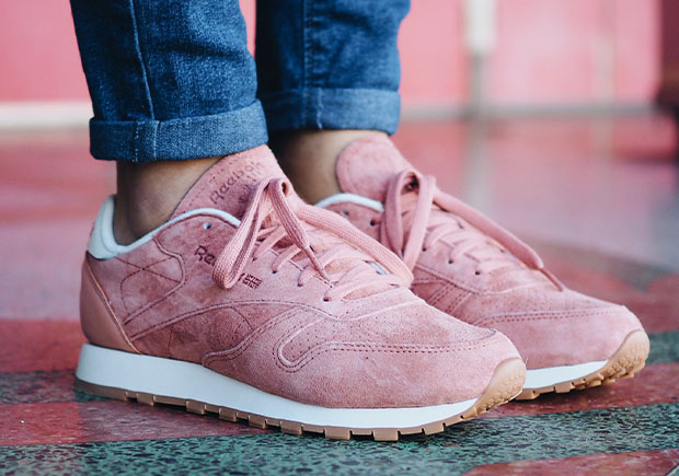 """6b82d06637eab The simple yet elegantly detailed women s Classic Leather """"Bread and Butter""""  collection will be available at Reebok.com and select retailers soon."""