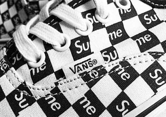 """Supreme Has Its Own Vans Era """"Checkerboard"""" Collaboration Coming"""