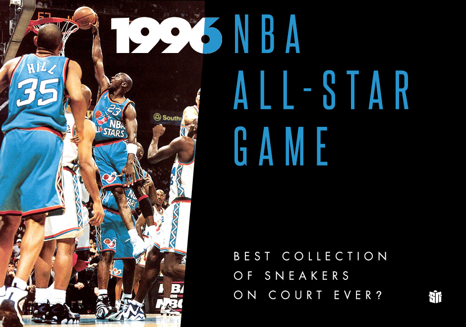 0a51cfa2fca Was the 1996 NBA All-Star Game the Best Collection of Sneakers On Court  Ever  - SneakerNews.com