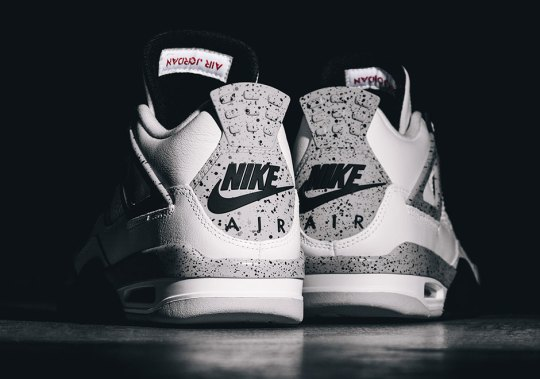 "The Air Jordan 4 ""White/Cement"" With Nike Air Releases Tomorrow"