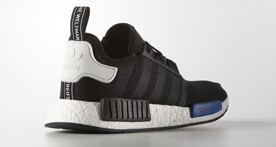 adidas nmd r1 mens black and blue
