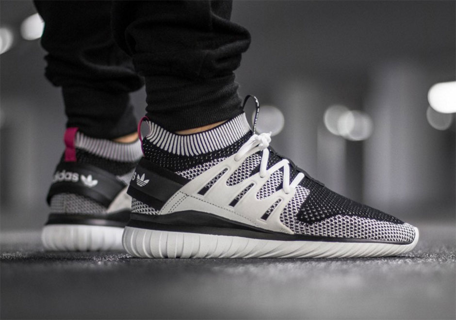 adidas tubular on feet primeknit