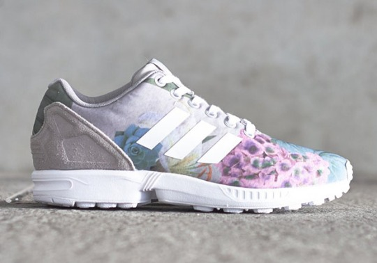The ZX Flux Looks Towards Spring With a Floral Print and Suede