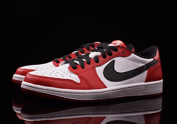 Air Jordan 1 Low Retro Black Red White shoes