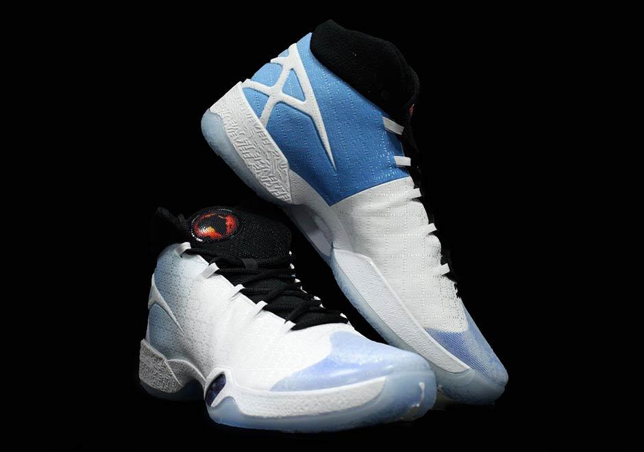 Air Jordan XXX White/University Blue/Black