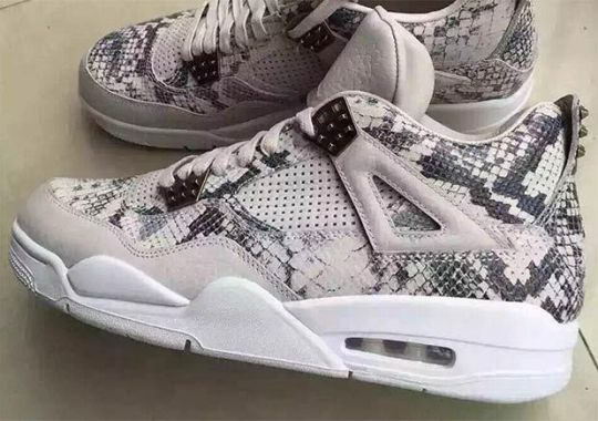 "A Detailed Look At The Air Jordan 4 Pinnacle ""Snakeskin"""