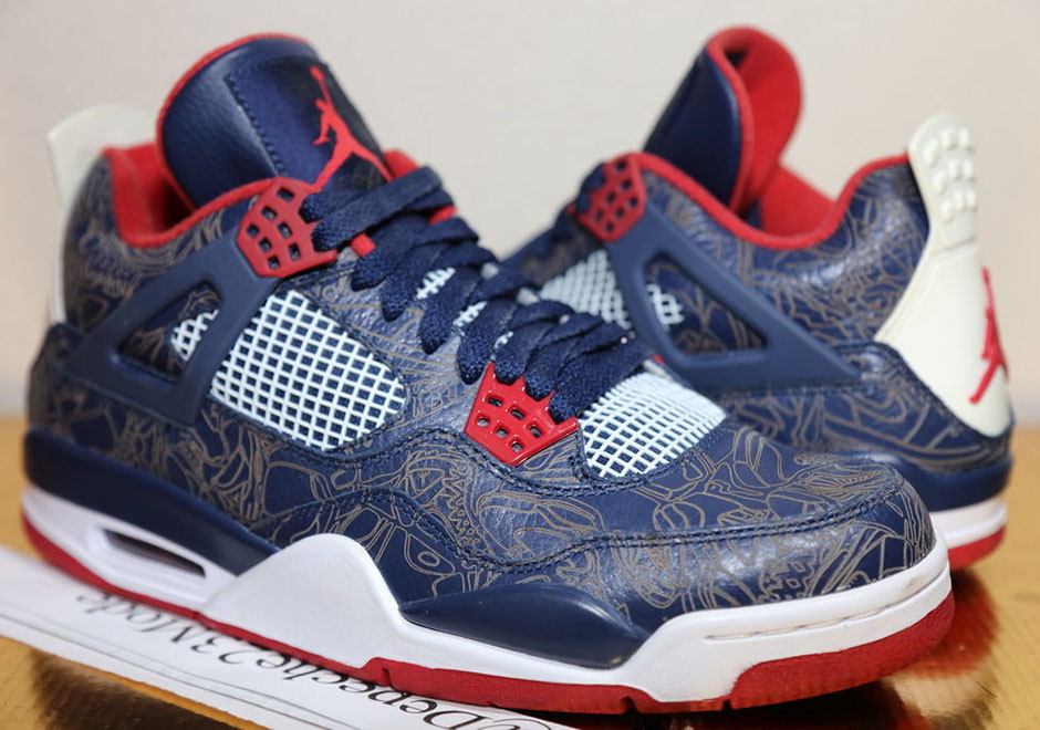a1b769a8a654b6 ... australia a rare look at carmelo anthony s air jordan 4 laser  quotusaquot pe from 2008