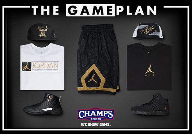 Master Your Air Jordan Rotation With The Black/Gold Collection By Champs Sports