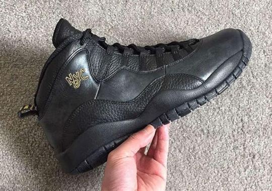 "Here's A Closer Look At The Air Jordan 10 ""NYC"""