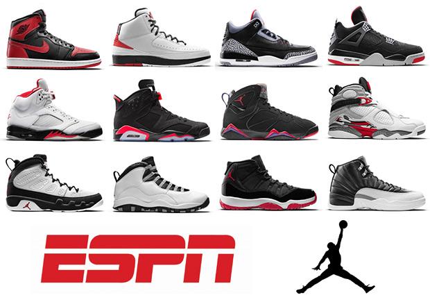ESPN Ranks Every Air Jordan In History