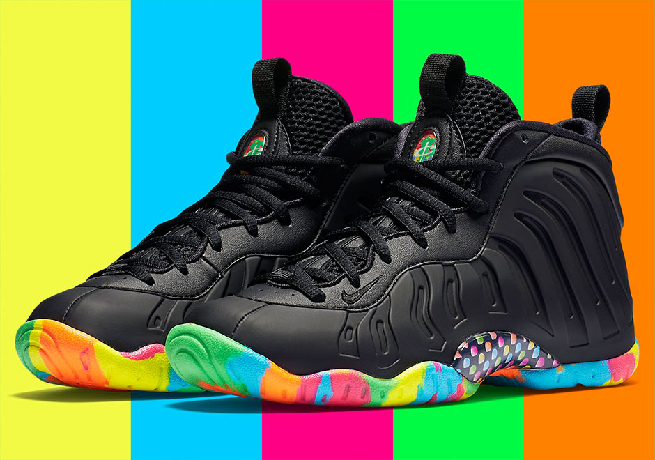 Black Fruity Pebbles Foams Shoes