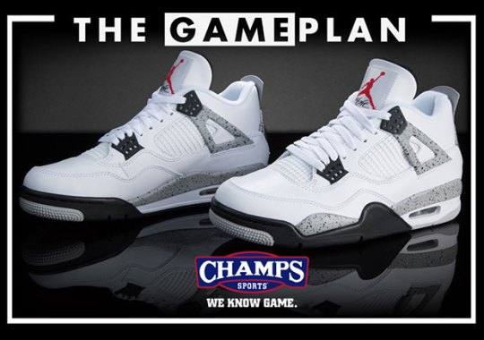 "The Iconic ""Nike Air"" Is Back On The Jordan OG Cement Pack At Champs Sports"
