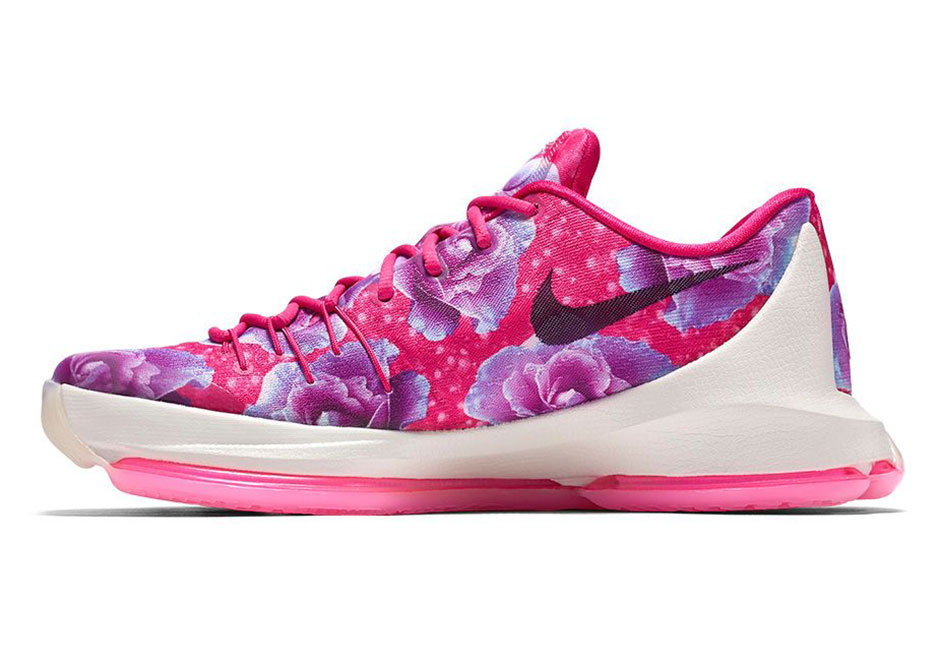 """hot sale online 278bf 8642a Nike KD 8 PRM """"Aunt Pearl"""". Color  Vivid Pink Black-Phantom Style Code   819148-603. Release Date  February 22, 2016. Price   200"""