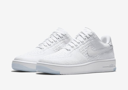 White On White Nike Air Force 1s Get The Flyknit Upgrade