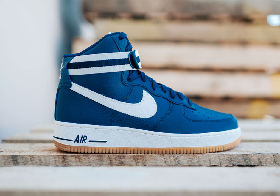 sale retailer 89c37 c954f Nike Air Force 1 High  07. Color  Coastal Blue Slate-Gum Light Brown-Wolf  Grey Style Code  315121-410. Price   100