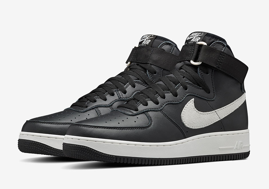 the nike air force 1 high qs is releasing in black and