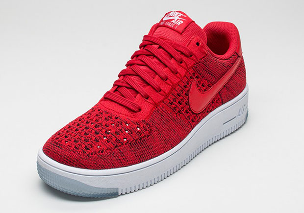 new products d929a 3ae86 Nike Air Force 1 Low Flyknit. Color University RedUniversity Red-White  Style Code 817419-600
