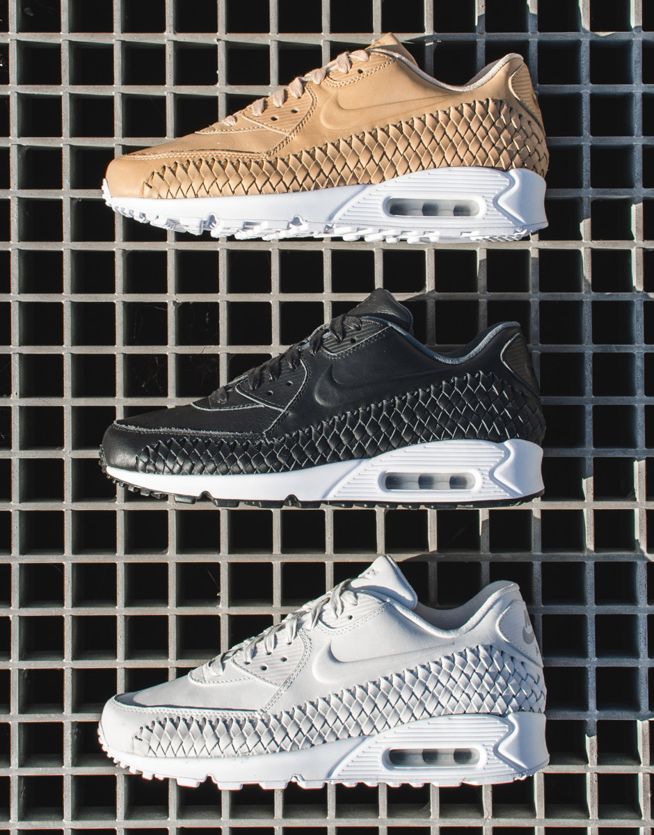 official photos 2946c 6fb87 The Signature Mudguard Of The Nike Air Max 90 Gets A Woven Upgrade ...