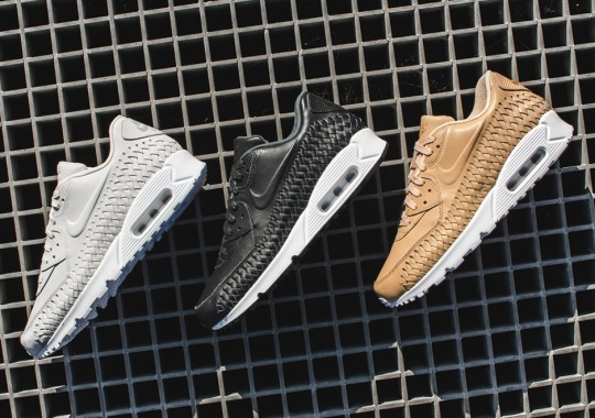 The Signature Mudguard Of The Nike Air Max 90 Gets A Woven Upgrade