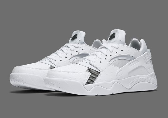White Ostrich Leather Hits The Nike Flight Huarache Low