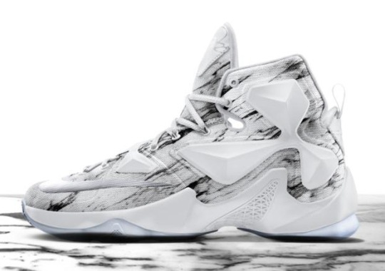 NIKEiD Introduces Marble and Gold Graphics For The LeBron 13