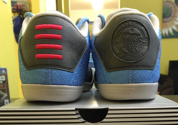 "b1a1b5a7c423 New Nike Kobe 11 ""Brave Blue"" Reveals Hidden Message On The Heel"