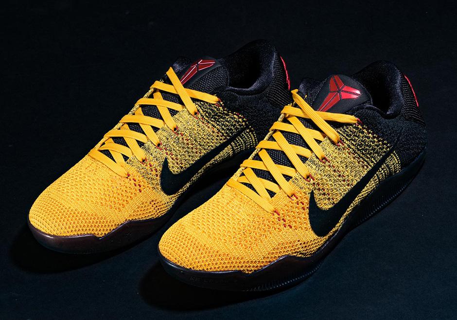 "cheaper 225dd 0e053 Nike Kobe 11 ""Bruce Lee"". Color  University Gold University Red-Black"