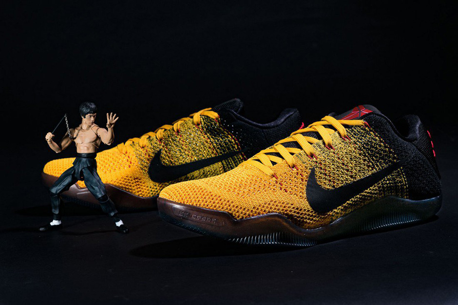 """new styles e68d5 f0f14 Nike Kobe 11 """"Bruce Lee"""". Color University GoldUniversity Red-Black Style  Code 822675-706. Release Date March 19th, 2016. Price 200"""