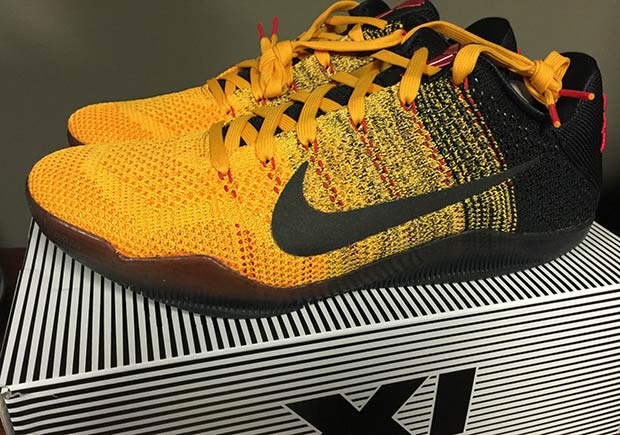 379d59182adf Nike Kobe 11. Color  University Gold University Red-Black Style Code   822675-706. Release Date  March 19th