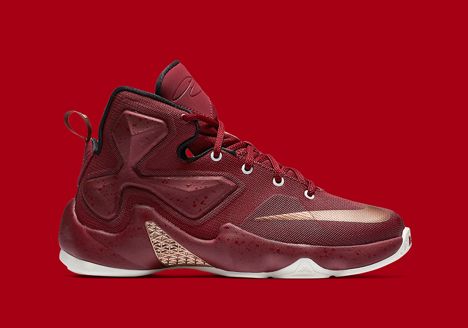 0fb35ed34742 Nike LeBron 13 GS. Color  Team Red Metallic Red Bronze-Black Style Code   808709-690. Release Date  March 2nd