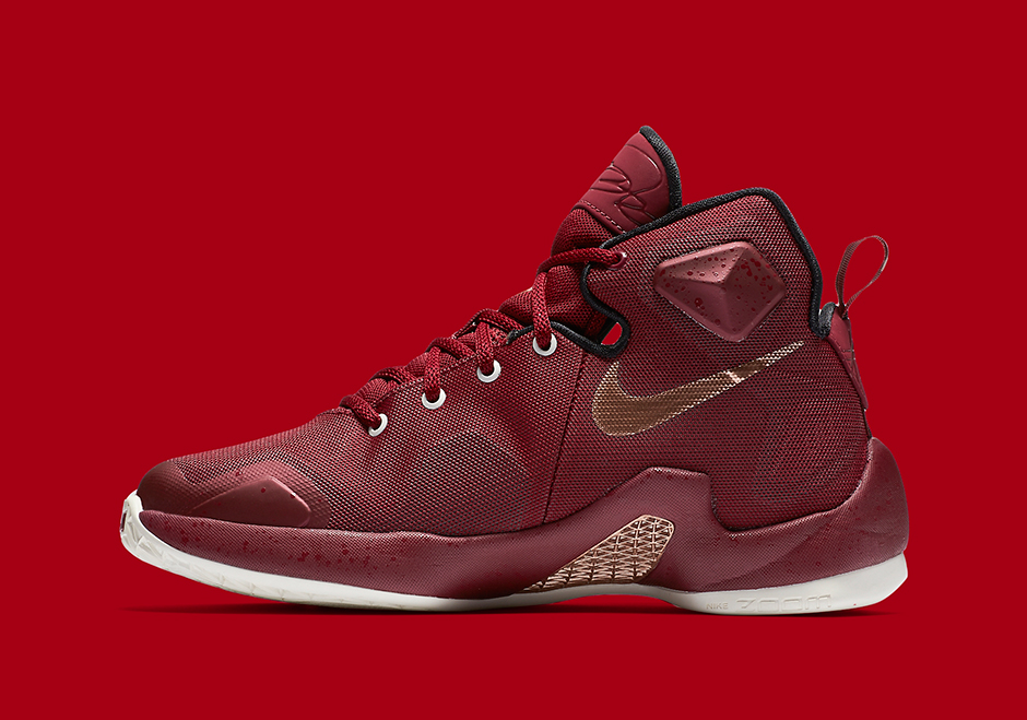 36f4c6e92bb1 Nike LeBron 13 GS. Color  Team Red Metallic Red Bronze-Black Style Code  ...