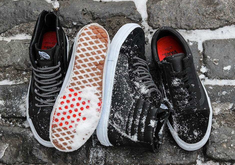 Canadian Labels Off The Hook And Raised By Woshoeses Team Up For A Wintry Vans Collaboration