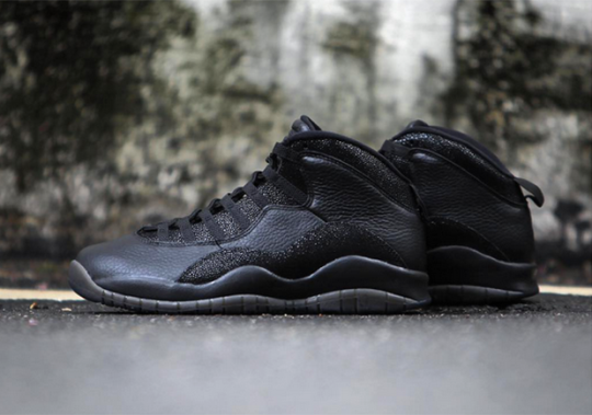 "Air Jordan 10 ""OVO"" In Black Has A Release Date"