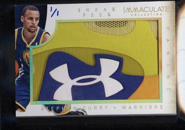 Steph Curry Under Armour Sneaker Card Sells For Over 4000