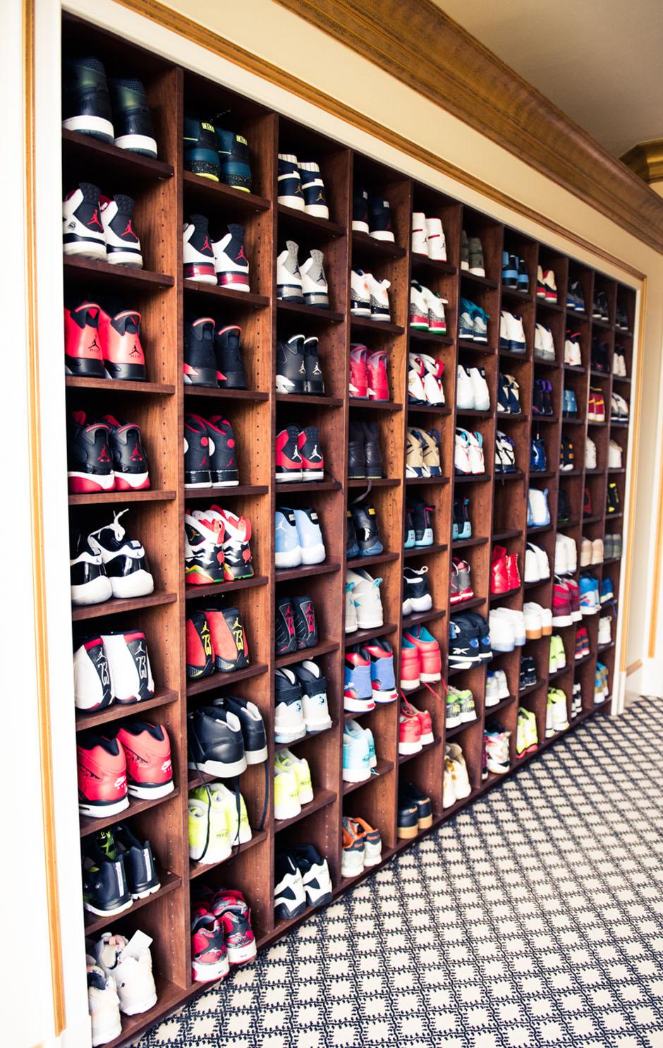 Closet Collection: Rick Ross Displays His Sneaker Closet Like A Museum