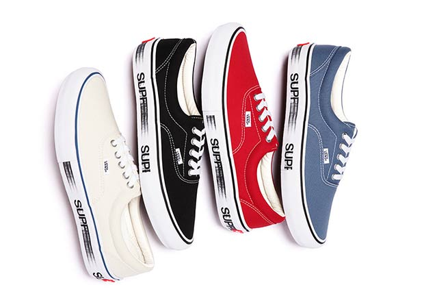 "Supreme's Signature ""Motion"" Logo Appears On This New Vans Collaboration"