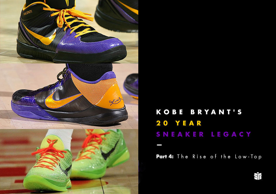 new style a9e0d 32cc7 Kobe Bryant s 20 Year Sneaker Legacy – Part 4  The Rise of the Low-Top