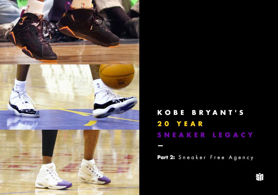 439099608dc Kobe Bryant's 20 Year Sneaker Legacy - Part 2: Sneaker Free Agency ...
