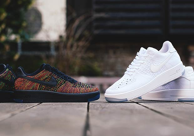 """The Nike Air Force 1 Low Flyknit Releases Tomorrow In """"White"""" And """" Multi-Color"""" dca567140"""