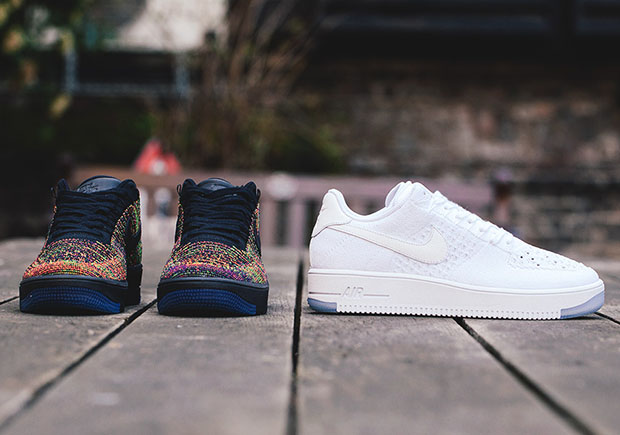 Nike Air Force 1 Bajo Flyknit Multicolor V3 xtPHZsm1EW