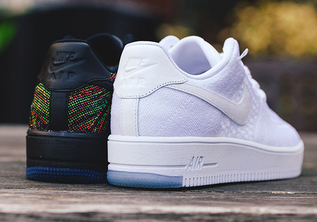 huge discount b71f2 5950e The Nike Air Force 1 Low Flyknit Releases Tomorrow In quot Whitequot And  quot Multi Colorquot
